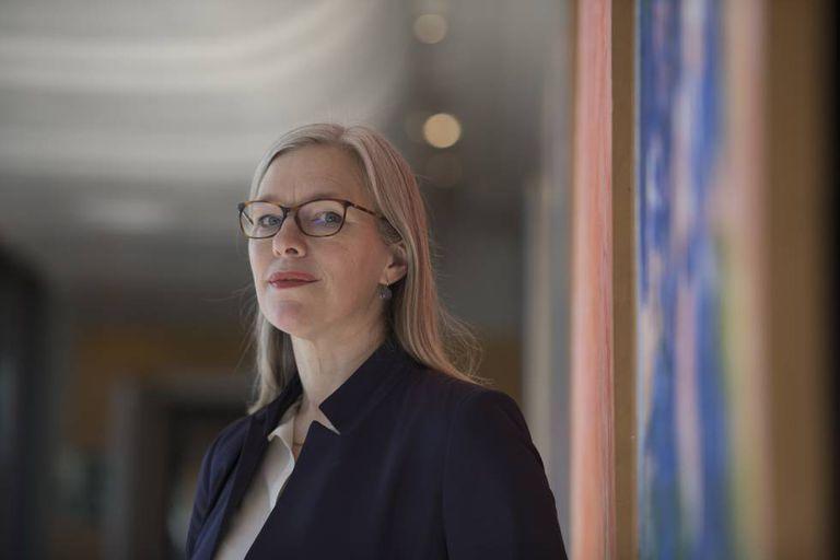 A primatóloga alemã Julia Fischer, fotografada em Madri.