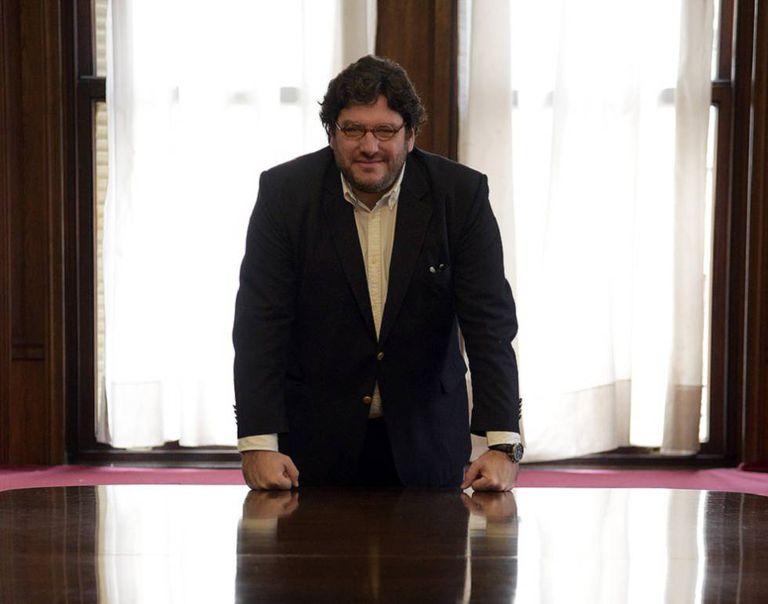 O ministro Pablo Avelluto em seu escritório do ministério de Cultura, em Buenos Aires.