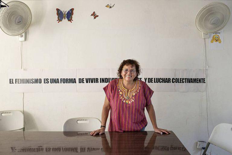 Morena Herrera, que lidera o Agrupamento Cidadão pela Descriminalização do Aborto, em abril, em Suchitoto (El Salvador)