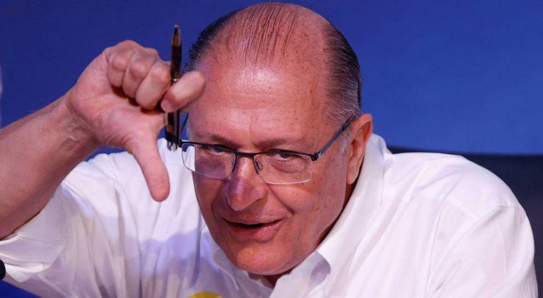Geraldo Alckmin na convenção do PSDB, no sábado.