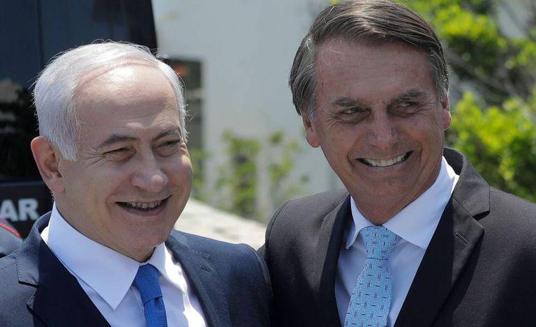 Netanyahu e Bolsonaro, em foto de dezembro de 2018 no Brasil