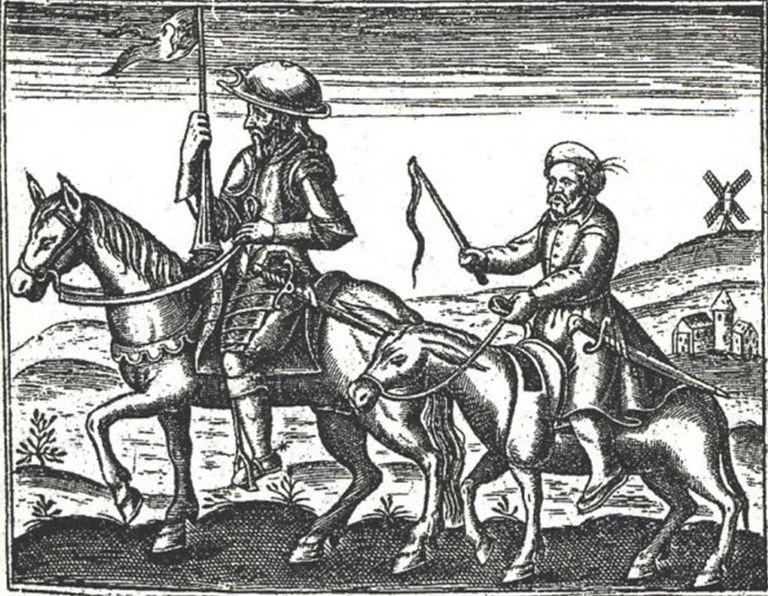 Uma ilustração de Quixote.