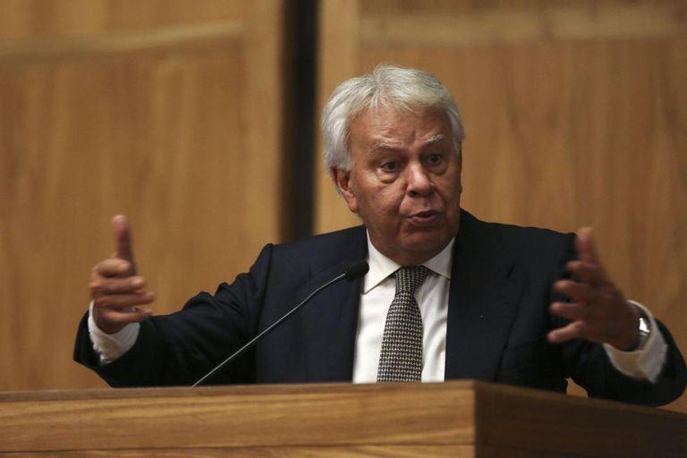 Felipe González, nesta quinta-feira na USP.