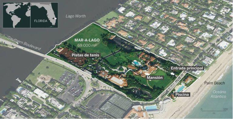 Infografia de Mar-a-Lago.