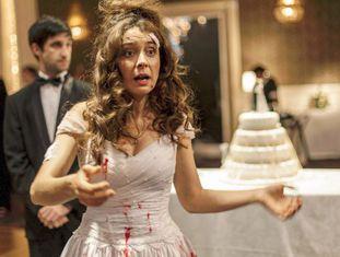 A atriz Érica Rivas, que atua na história final do filme.