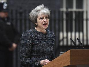 Theresa May durante uma entrevista coletiva na quarta-feira, em Londres.