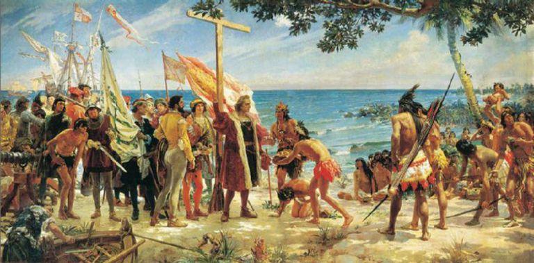 A primeira homenagem do Novo Mundo a Colombo.