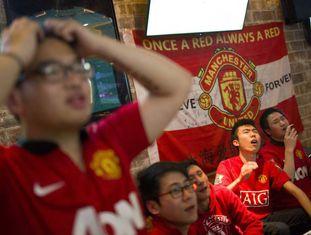 Torcedores do Manchester United em Xangai.