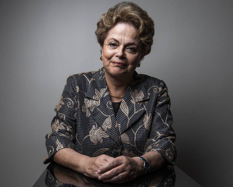 Dilma Rousseff antes da entrevista.