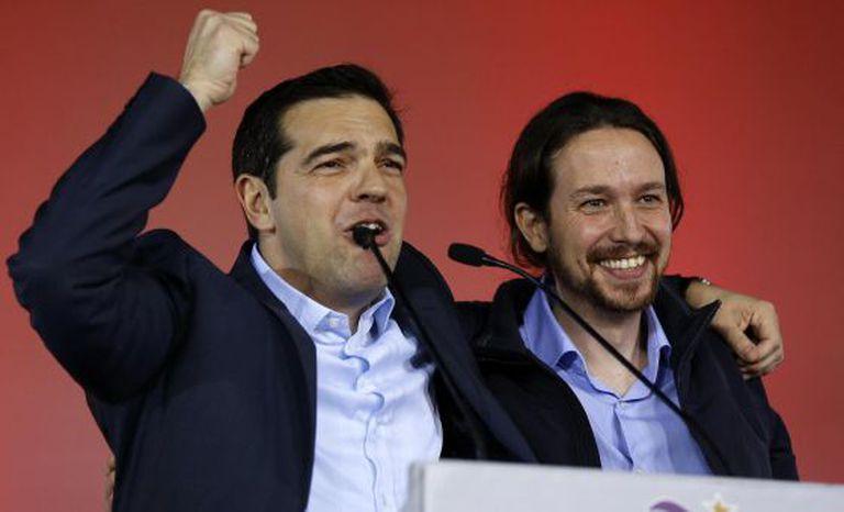 Tsipras e Pablo Iglesias nesta semana em Atenas.
