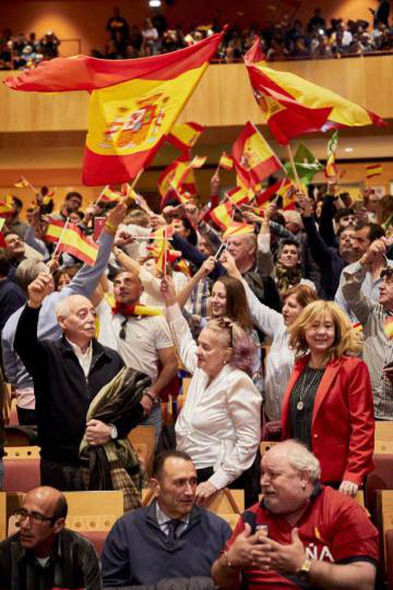 Um ato do Vox em Ciudad Real.