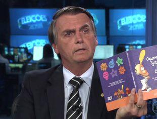 Jair Bolsonaro durante a entrevista no 'Jornal Nacional'