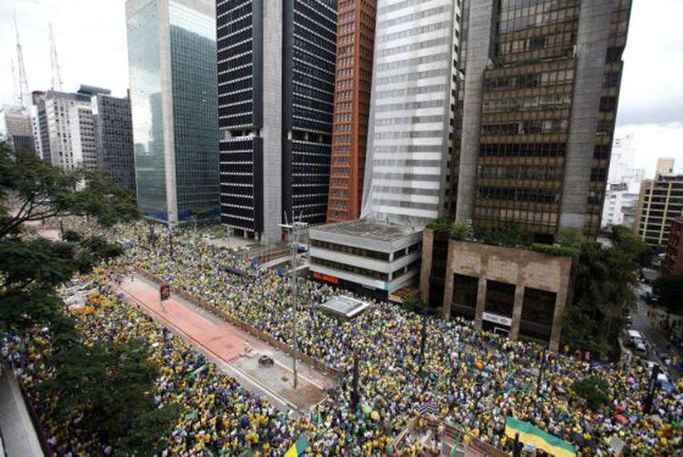 Protesto anti-Dilma na Paulista, em março.