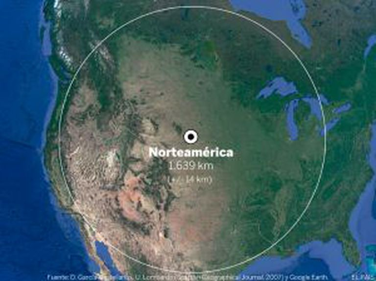 Na América do Norte, o polo de inacessibilidade fica perto de Allen, na Dakota do Sul (EUA)