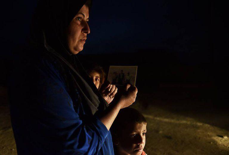 Sahora Hassan é mão de cinco filhos. Há dois anos não sabe o paradeiro de seu marido, Saed Abdallah Atya.