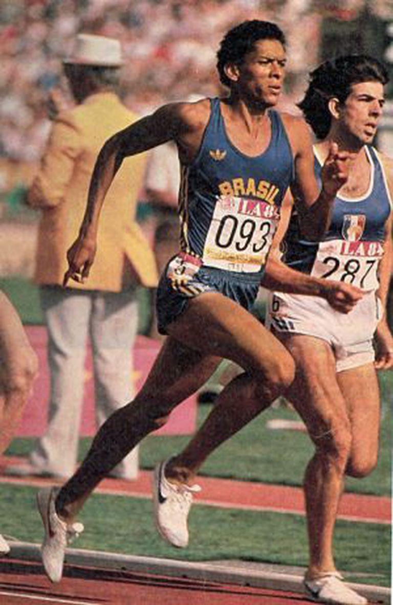 Joaquim Cruz nos Jogos Olímpicos de 1984.
