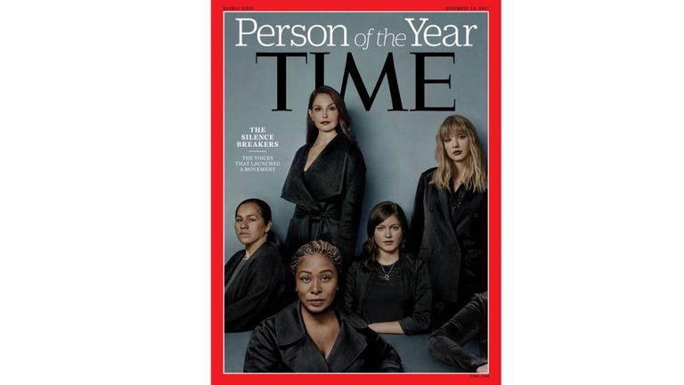 Capa da revista 'Time' dedicada ao movimento das mulheres contra o assédio sexual