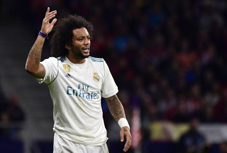 Marcelo, durante o jogo do Real Madrid contra o Atlético