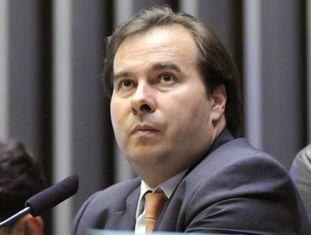 Rodrigo Maia, em sessão desta terça-feira.