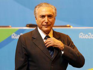 Temer durante declaração à imprensa, no dia 18, no Rio.