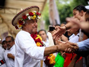 López Obrador no sábado passado, em Chiapas