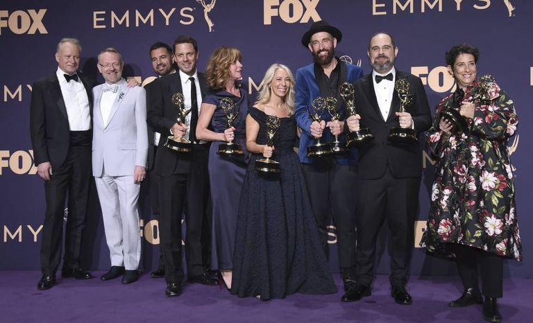 A equipe de 'Chernobyl', no Emmy.