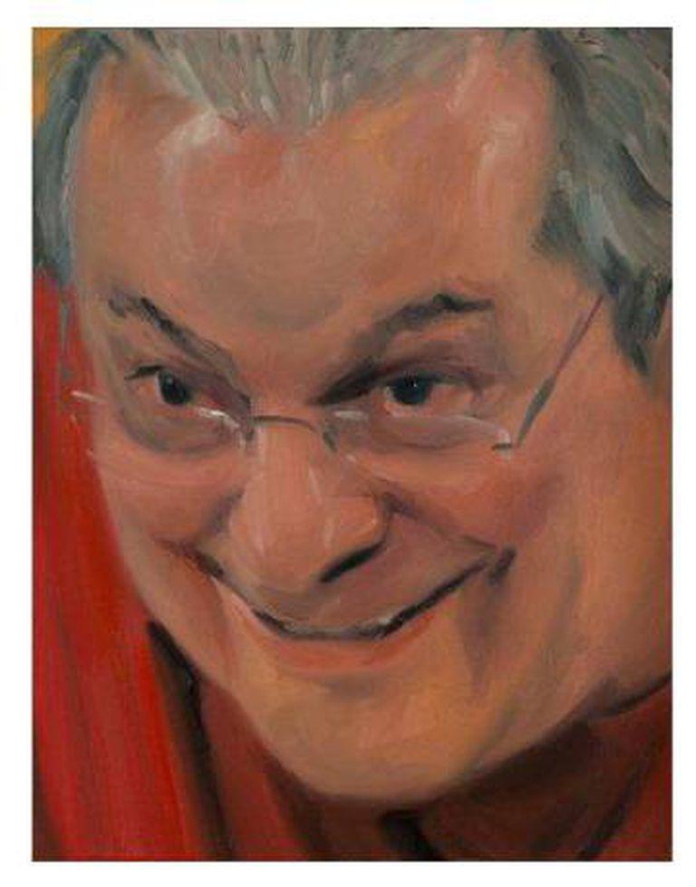 Retrato do político José Dirceu, pintado por Gabriel Giucci, para o Salão dos Corruptos, em exposição em São Paulo.