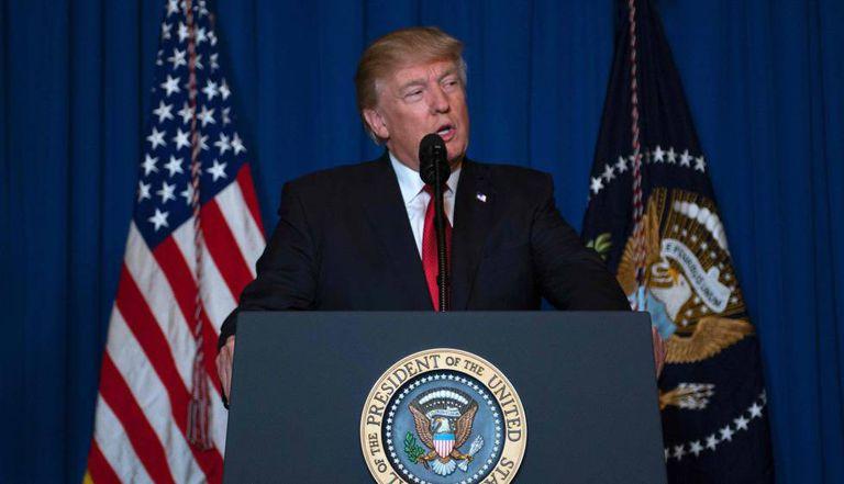 Trump, nesta quinta-feira, ao anunciar o ataque a uma base aérea síria