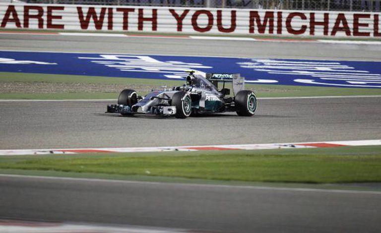 Nico Rosberg, no circuito de Bahrein.