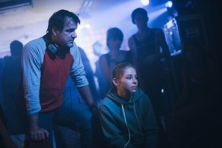 Kornél Mundruczó e Zsófia Psotta, na filmagem de 'White God'.