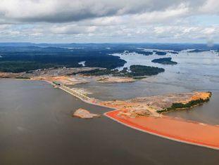 A usina de Belo Monte.