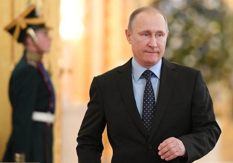 O presidente russo, Vladímir Putin, na terça-feira no Kremlin.