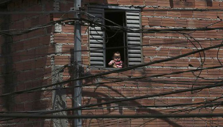 Fachada de uma casa em Paraisópolis na ultima quinta-feira.