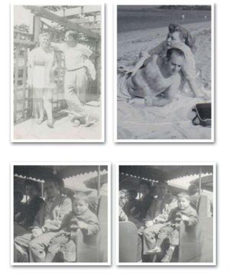 Quatro fotos de família de Bill Finger, incluídas no livro 'Batman: serenata noturna' de David Hernando.