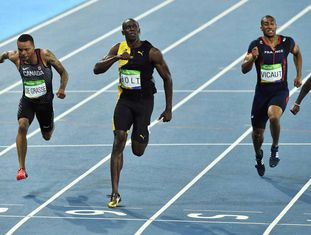 Bolt, no final dos 100m.