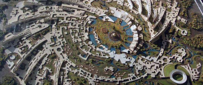 Mapa da cidade experimental indiana.