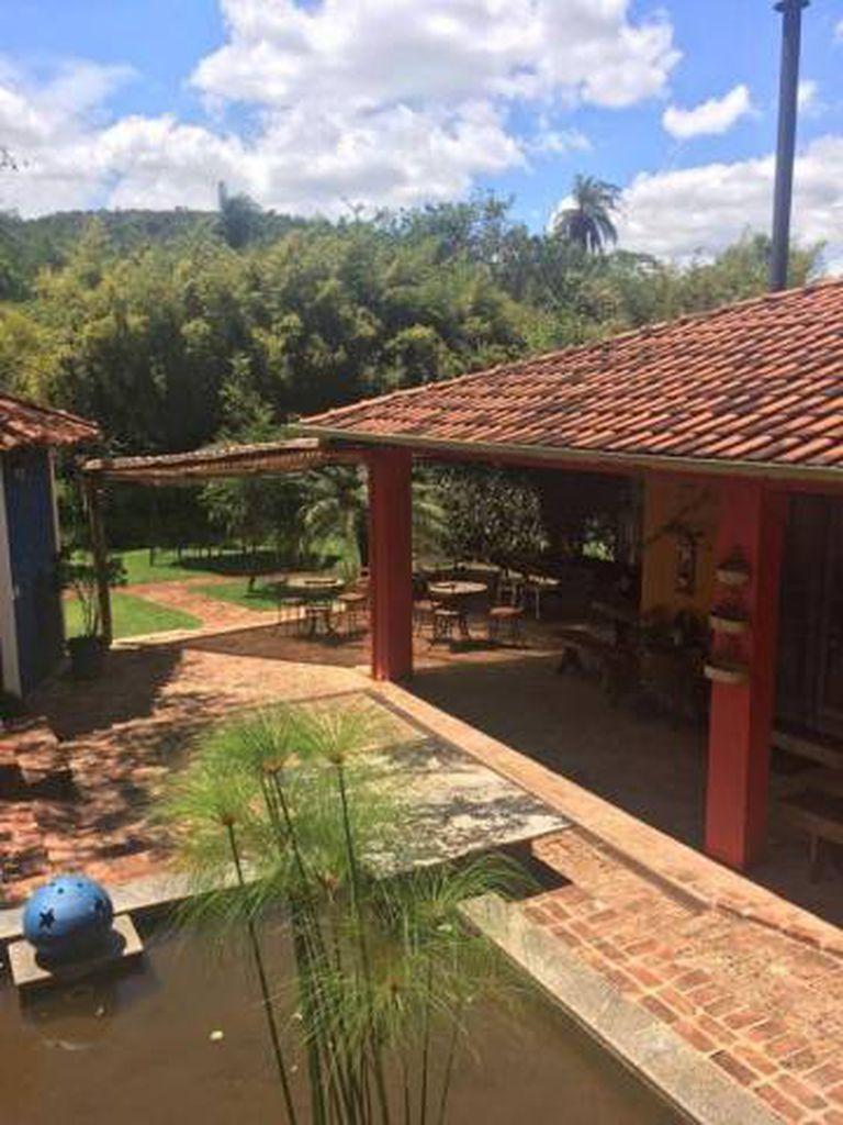 Foto enviada por Camila ao namorado por volta das 11h15 da sexta-feira (25) da pousada Nova Estância, em Brumadinho.