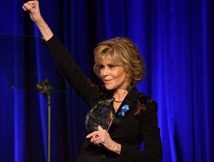 A atriz Jane Fonda em Beverly Hills, Califórnia no início do dezembro.