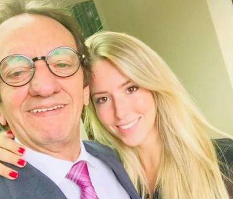 Inaldo Leitão com a filha dele