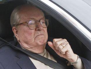 Jean-Marie le Pen, nesta segunda-feira em Nanterre.