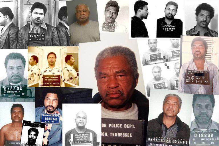 Montagem de fotos policiais de Litlle feita pelo FBI.