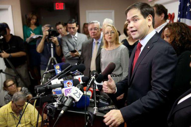 Senador Marco Rubio, republicano da Flórida, ataca decisão de Obama.