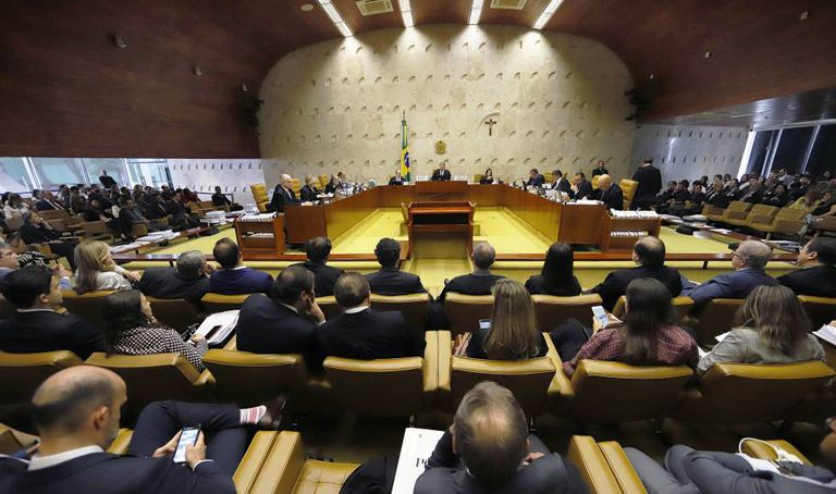 O plenário do Supremo Tribunal Federal em sessão no último dia 03.