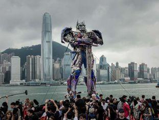 A estreia mundial de 'Transformers: a era da extinção' em Hong Kong.
