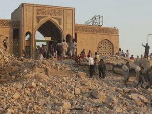 A mesquita em honra ao profeta Yunus (Jonas) em Mossul, destruída em julho por terroristas do Estado Islâmico.