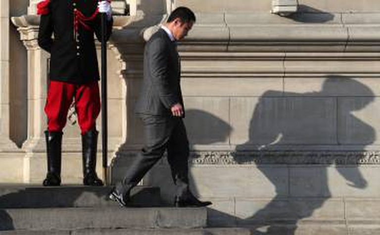 Kenji Fujimori, congressista e filho do ex-presidente, na cerimônia de juramento do novo Gabinete, em 17 de setembro.