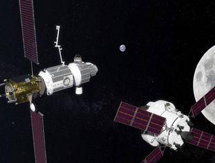 Protótipo da base na órbita lunar.