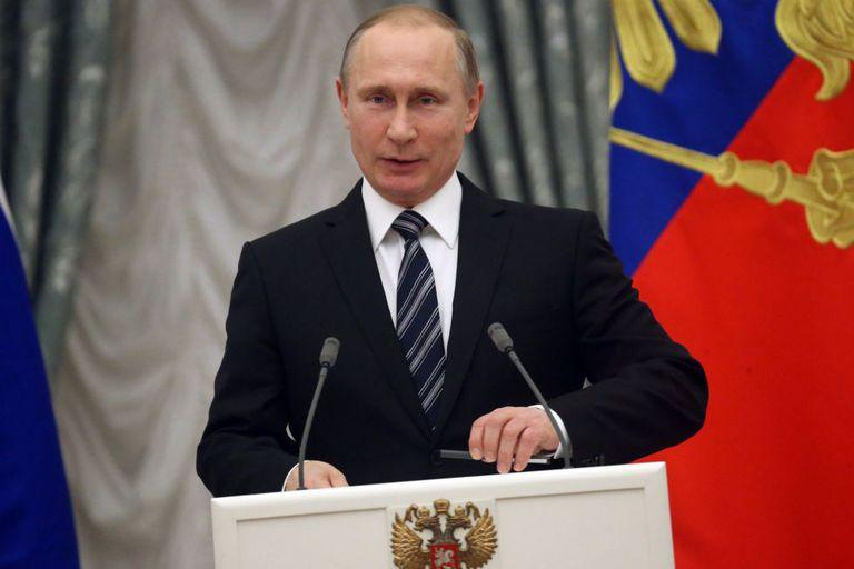 O presidente russo, Vladimir Putin.