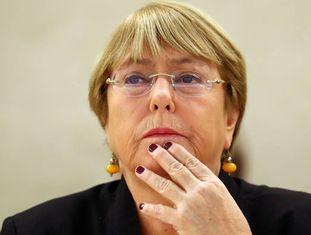 A ex-presidente do Chile e atual alta comissária da ONU para Direitos Humanos, Michelle Bachelet