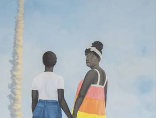 Fragmento de 'Planes, Rockets, and the Spaces in Between' (2018), de Amy Sherald.
